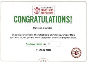 Jumper Day Certificate