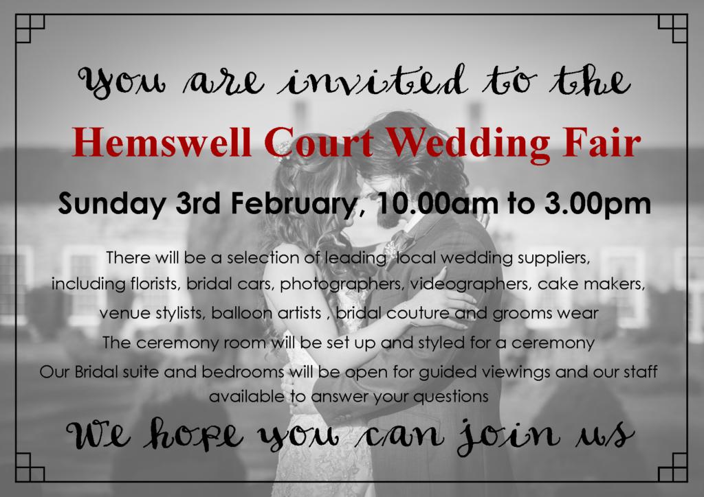 wedding fair 2019 invite black and white
